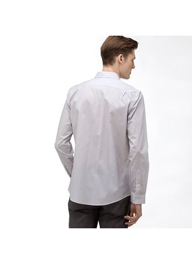 Lacoste Erkek Slim Fit Gömlek CH0057T.57G Gri